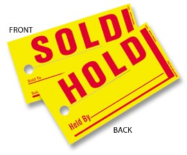 Sold / Hold Tags - 250 count